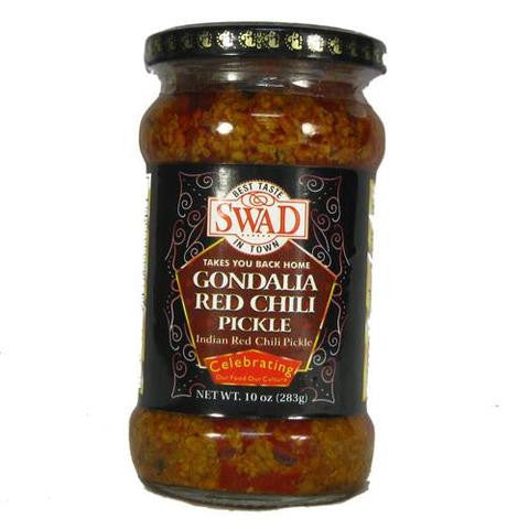 Swad Gondalia Red Chili Pickle 10 OZ (283 Grams)