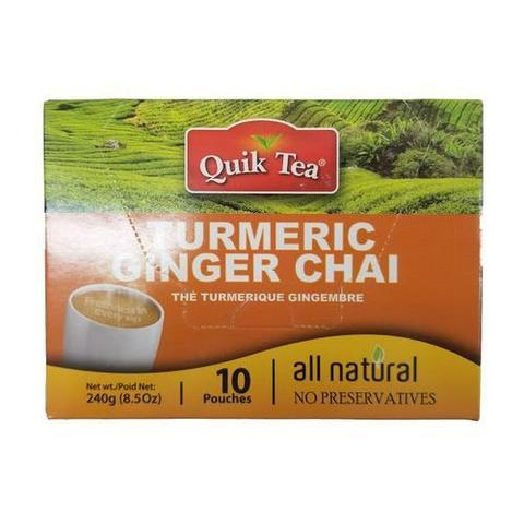 Quik Tea Turmeric Ginger Chai 8 OZ (241 Grams)
