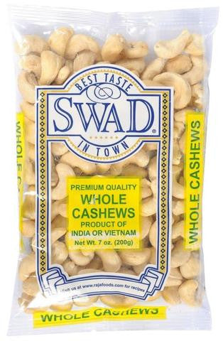 Swad Whole Cashews 7 OZ