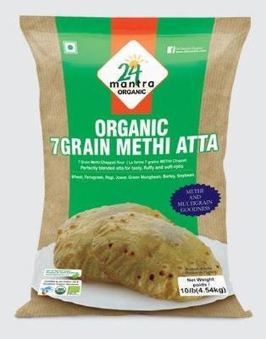 24 Mantra Methi Atta 2 LB (998 Grams)