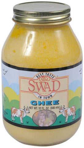 Swad Pure Clarified Butter Ghee 32 FL OZ (946 ML)
