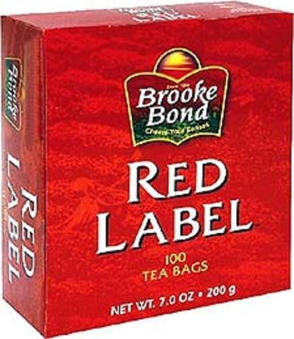 Brooke Bond Red Label Tea 100 Tea Bags 7 OZ (200 Grams)