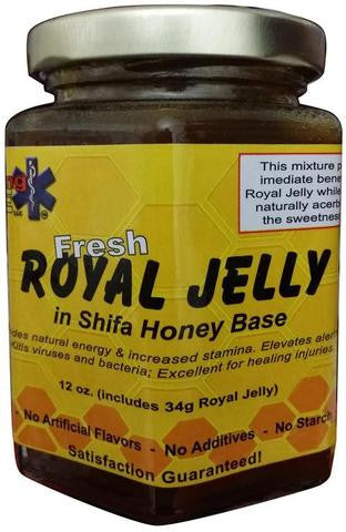 Royal Jelly In Pure Shifa Honey 12 OZ (340 Grams)
