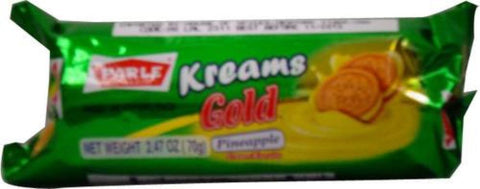 Parle Kreams Gold Pineapple Biscuits 70 Grams (2.47 Oz)