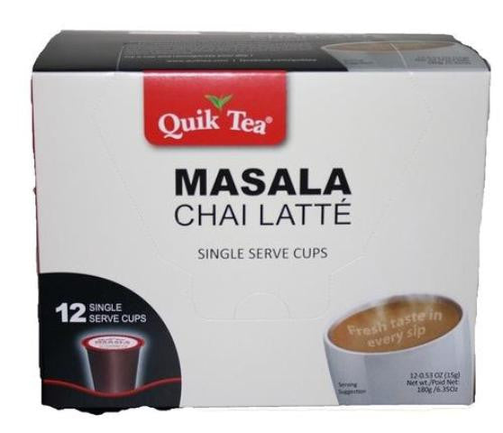 Quik Tea Masala Chai Latte 12 Single Serves Cup