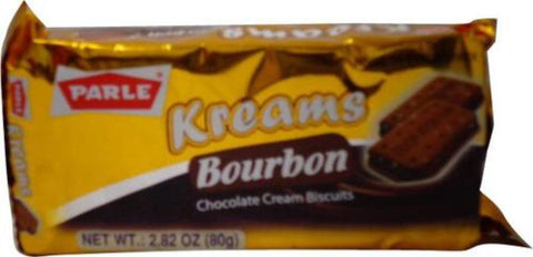 Parle Kreams Bourbon Chocolate Cream Biscuits 80 Grams (2.82 OZ)