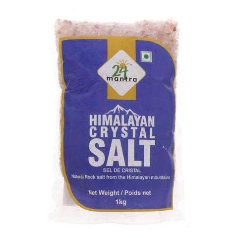 24 Mantra Himalayan Natural Rock Salt 2 LB (907 Grams)