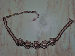 N-012/Gold Beaded Choker Necklace