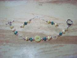 B2-004/MULTISTONE BRACELET/EARRING SET