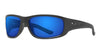 Polarized Poly-Carbonate / Matte Black / Gray Lens Deep Blue Mirror