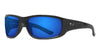 Polarized Poly-Carbonate / Glossy Black / Gray Lens Deep Blue Mirror