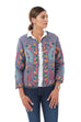 Cotton Embroidered Jacket - Blue Grey