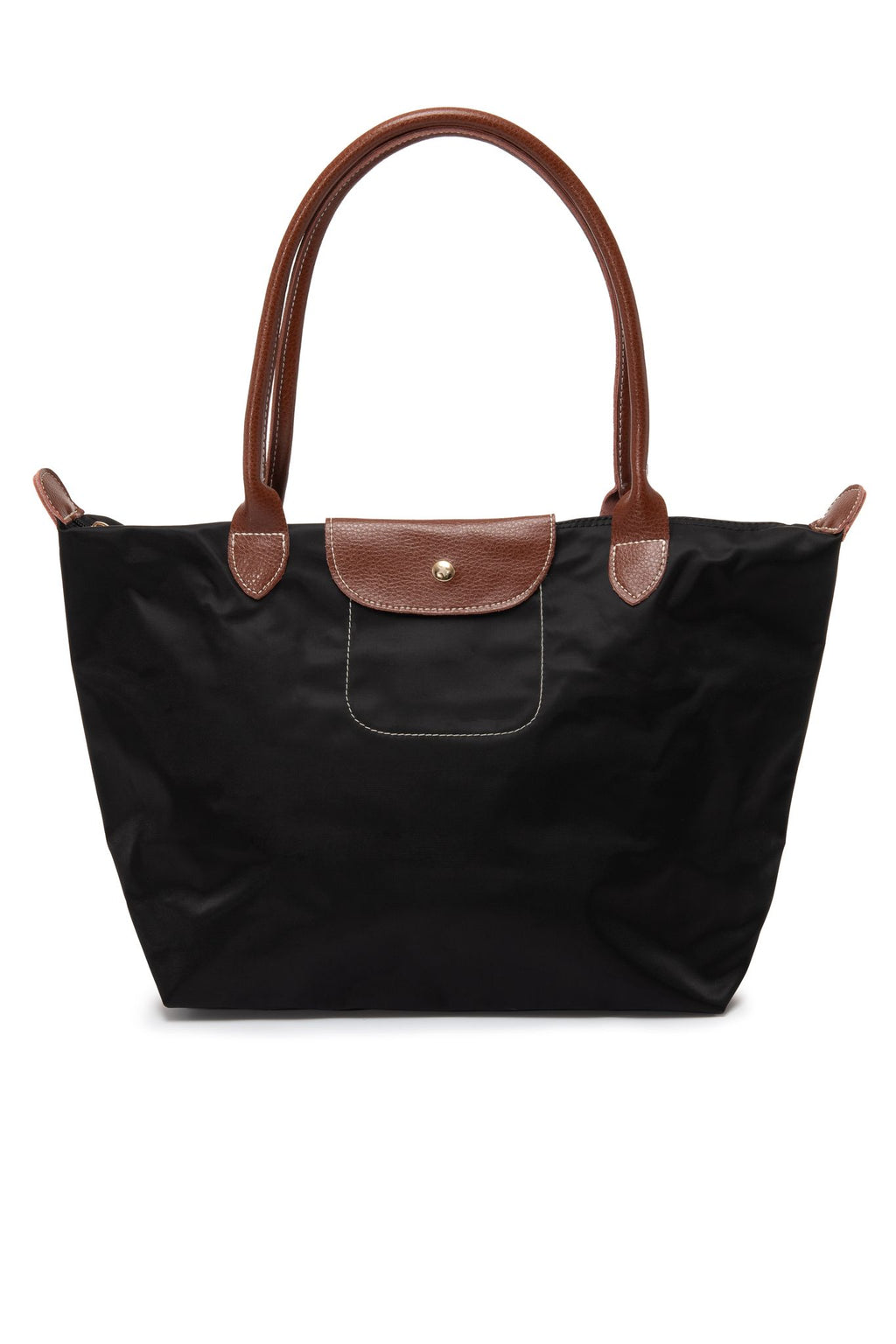 Leather Trimmed Multi-Purpose Bag Black