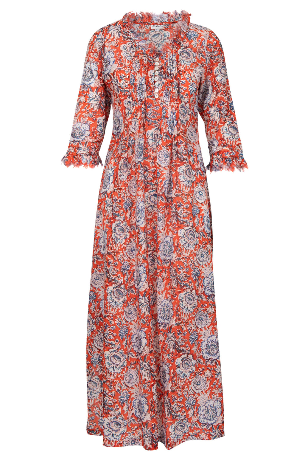 Annabel Maxi Dress - Orange Flower