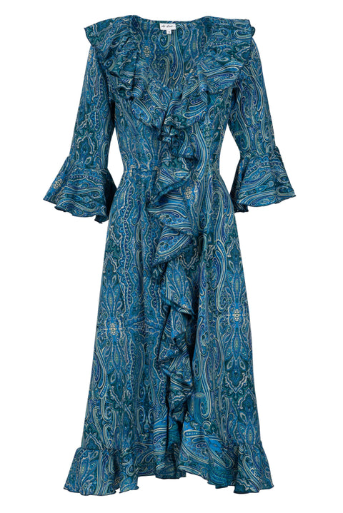 Felicity Dress - Blue Paisley AH41