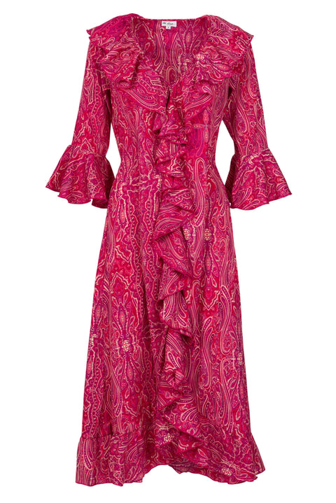 Felicity Dress - Pink Paisley AH43