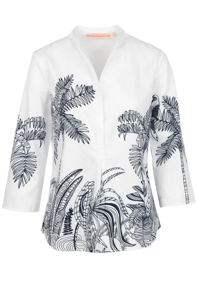 White Jungle Blouse by 'Vilagallo'