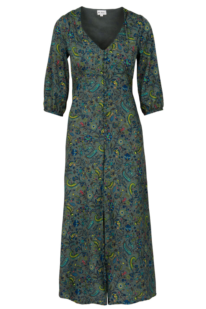 Belgravia Dress -Multi Green