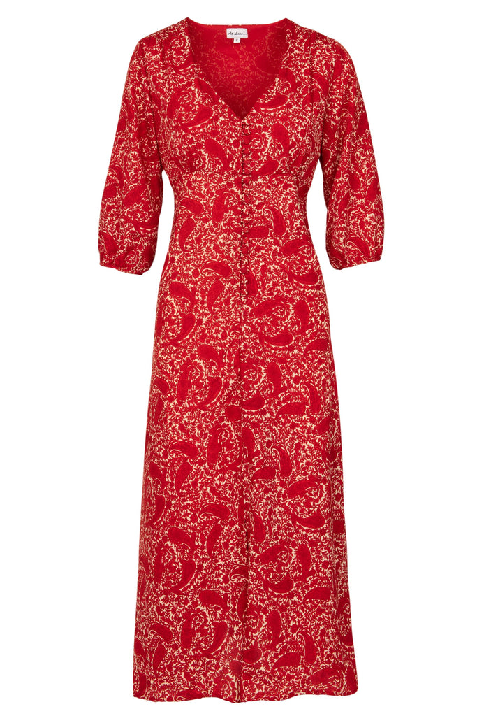 Belgravia Dress - Red Paisley
