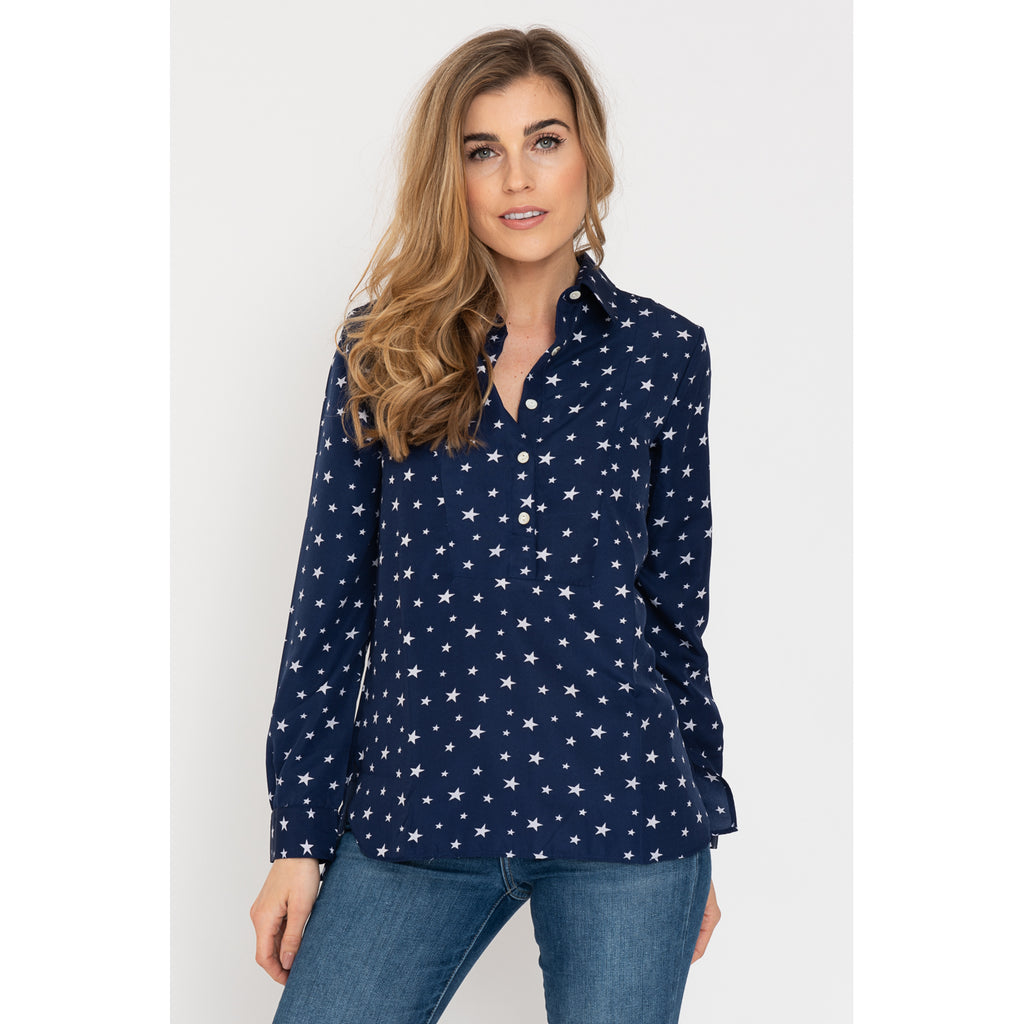 Soho Shirt with Back Detail - Navy Star AH74