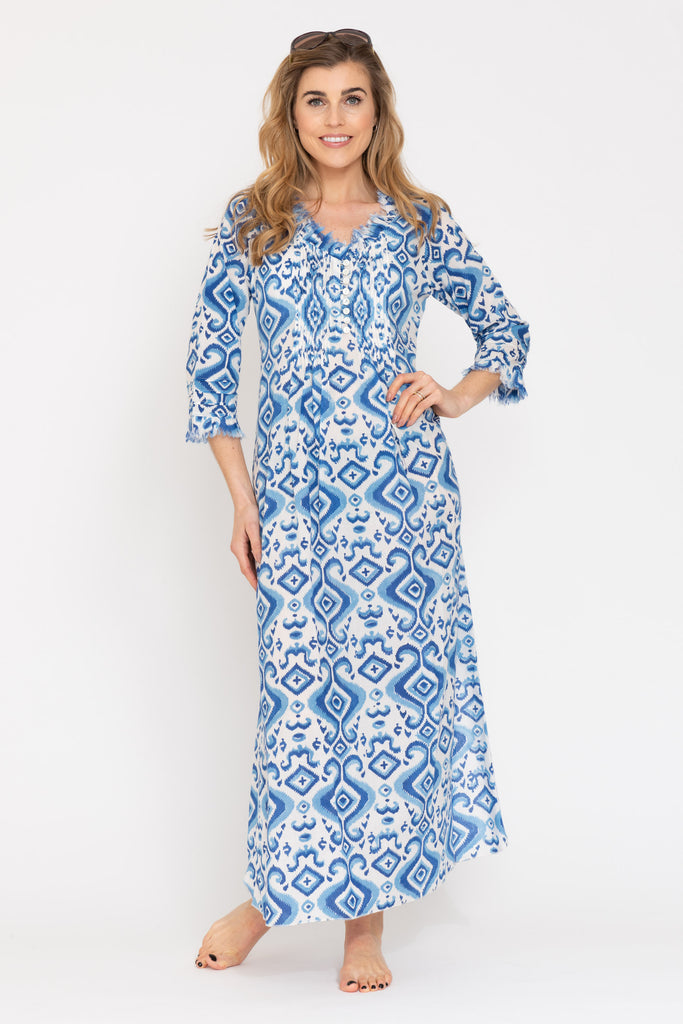 Annabel Maxi Dress - Blue Ikat 2019-121