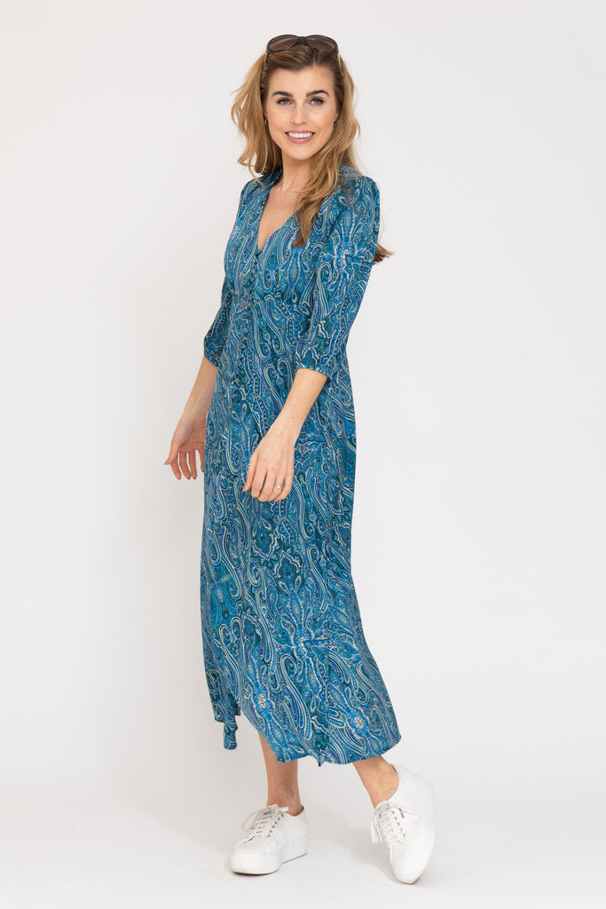 Belgravia Dress - Blue Ripple