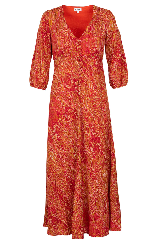 Belgravia Dress - Orange Paisley AH44