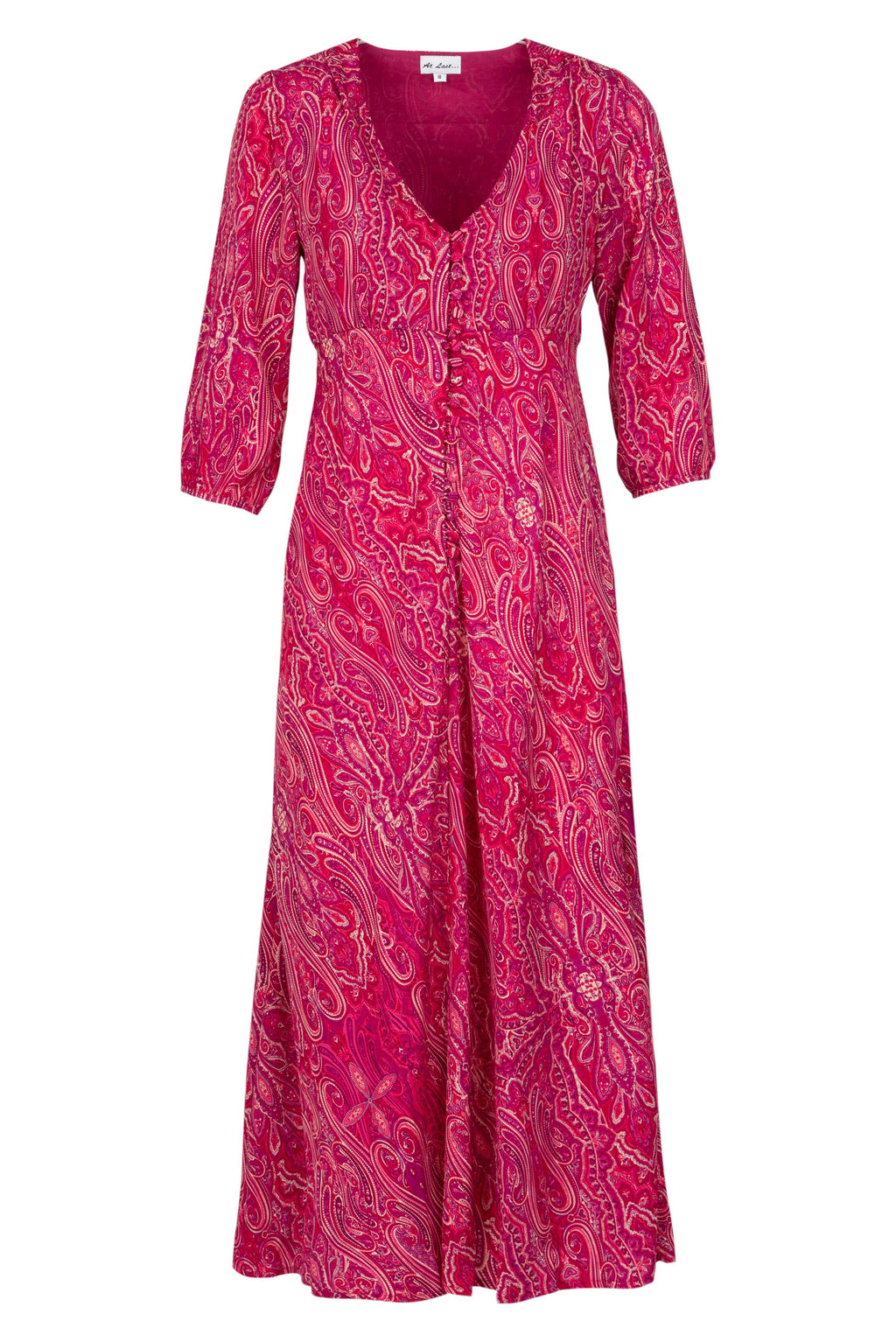 (COMING SOON) Belgravia Dress - Pink Paisley AH45