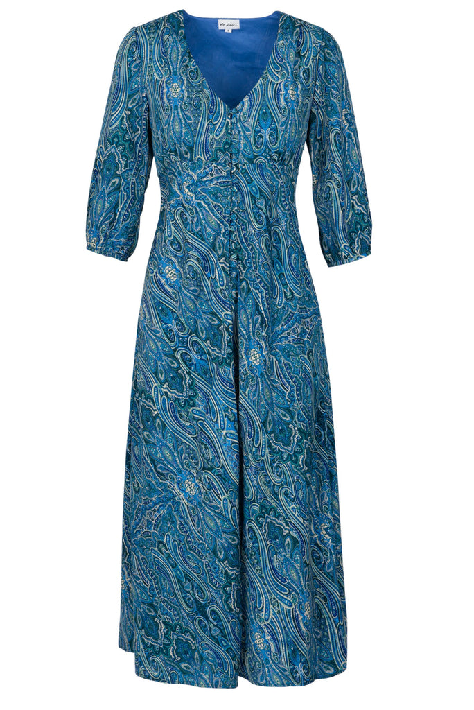 (COMING SOON) Belgravia Dress - Blue Paisley AH41