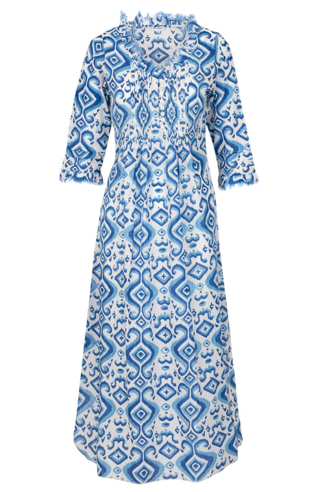 (COMING SOON) Annabel Maxi Dress - Blue Ikat 2019-121