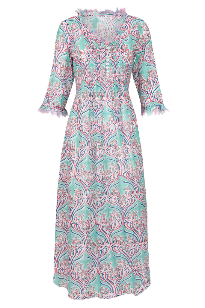 Annabel Maxi Dress - Aqua Pattern 2019-119