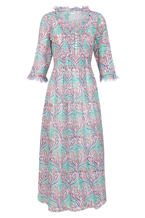 (COMING SOON) Annabel Maxi Dress - Aqua Pattern 2019-119