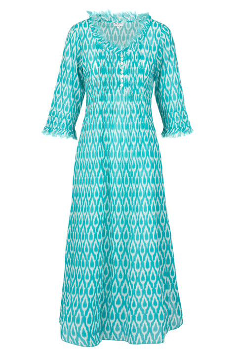 (COMING SOON) Annabel Maxi Dress - Aqua Ikat 2019-124