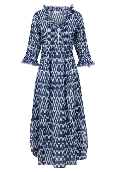 (COMING SOON) Annabel Maxi Dress - Navy Ikat 2019-123
