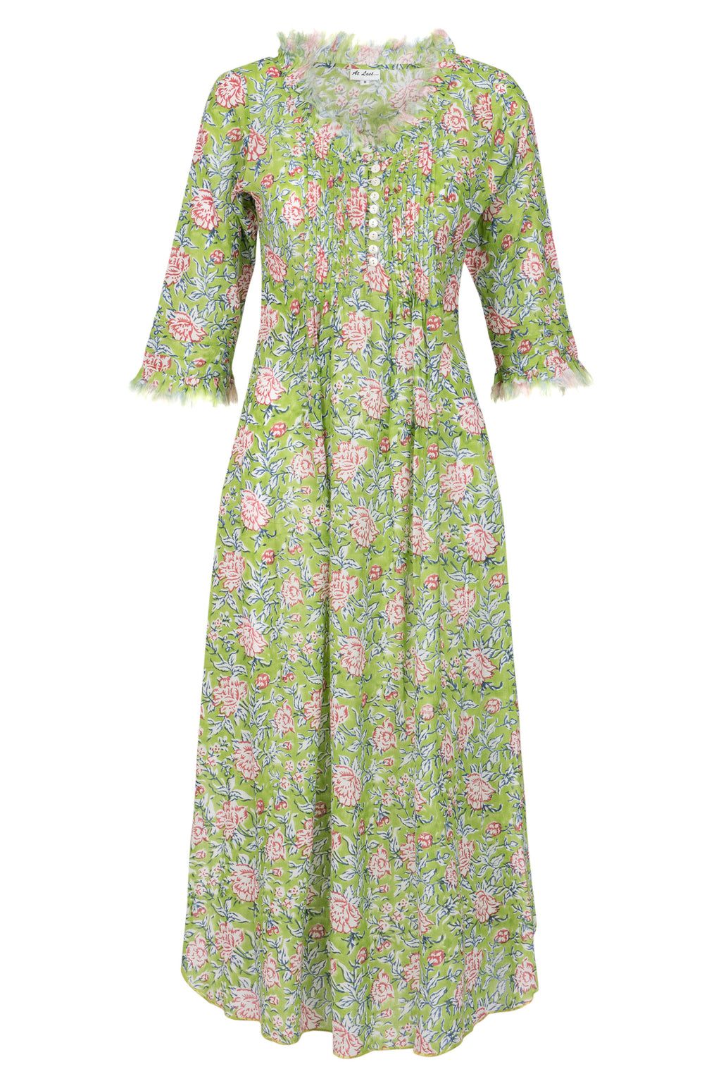 (COMING SOON) Annabel Maxi Dress - Green Flower 2019-118