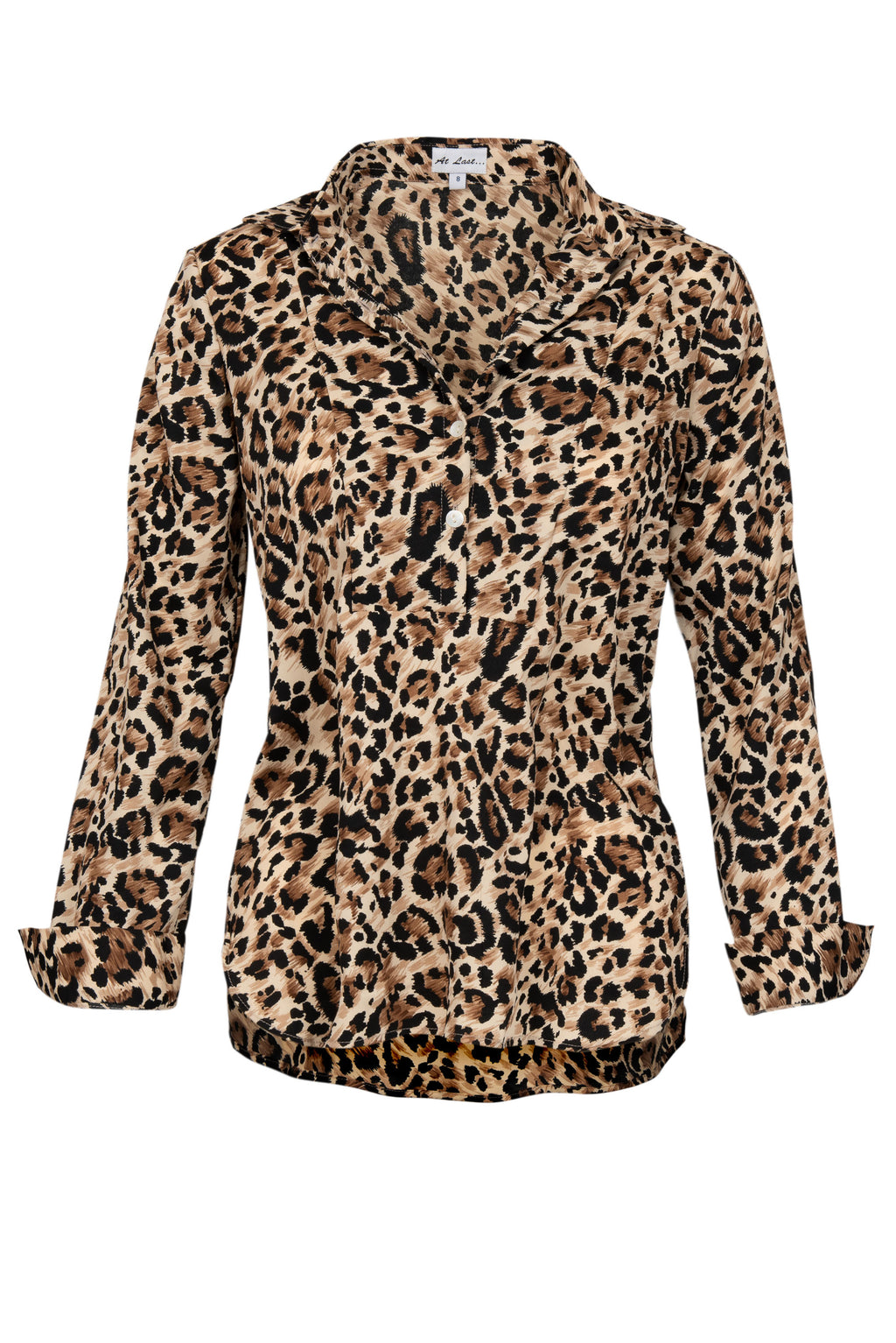Soho Shirt with Back Detail - Leopard