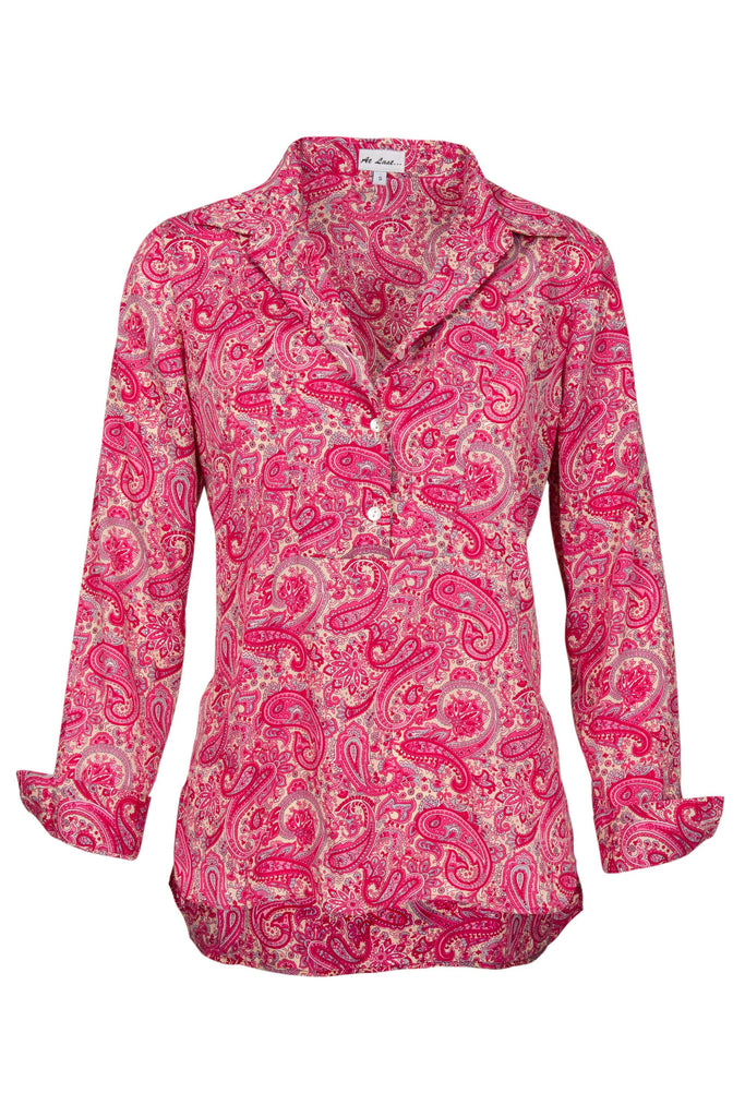 Soho Shirt with Back Detail - Pink Paisley