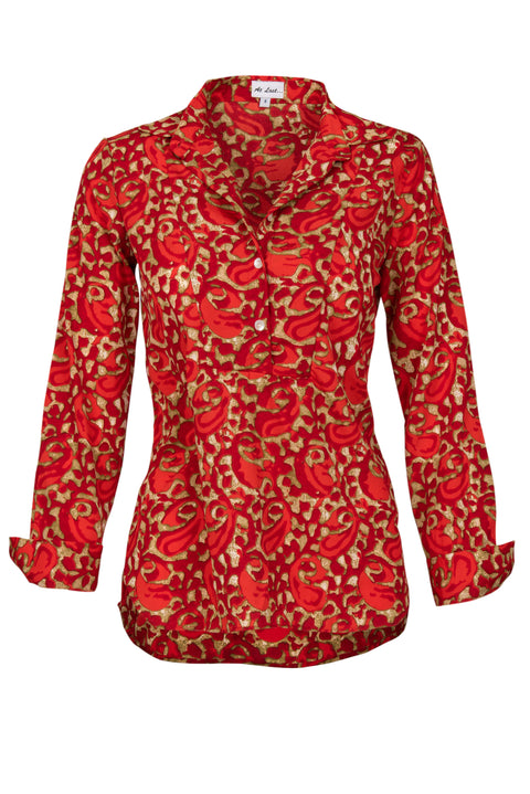 Soho Shirt with Back Detail - Hot Red