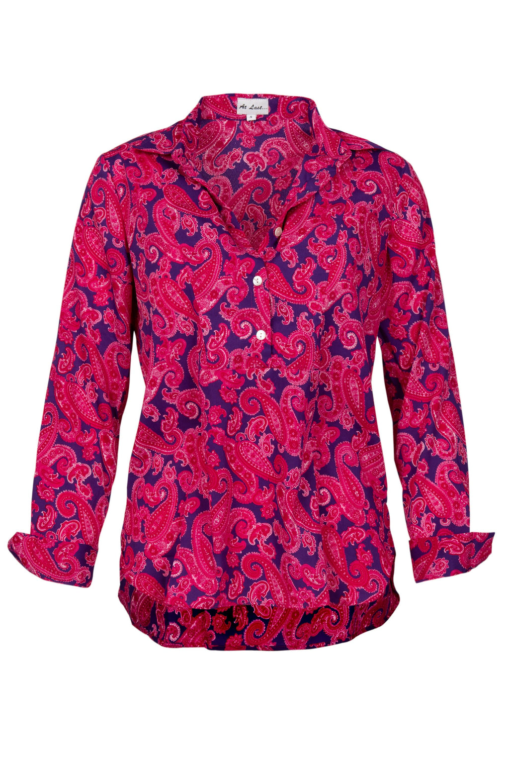 Soho Shirt with Back Detail - Pink and Purple