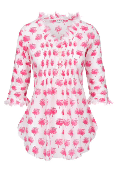 Sophie Cotton shirt - Pink Palm