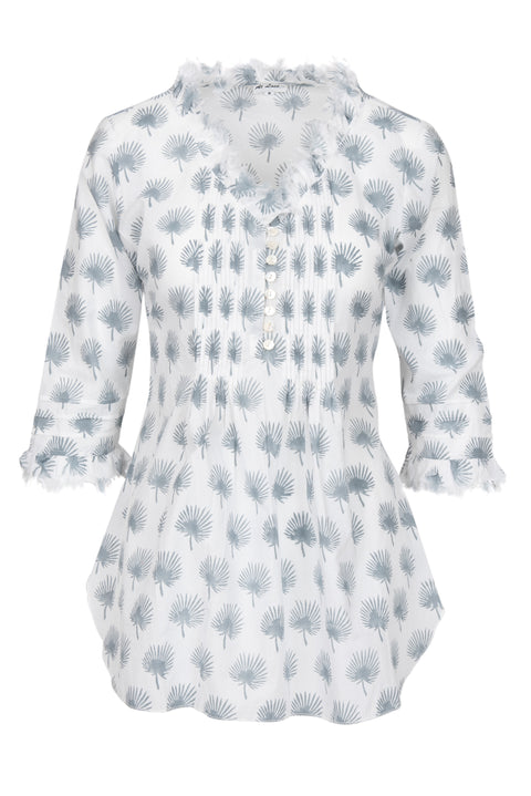 Sophie Cotton shirt - Grey Palm