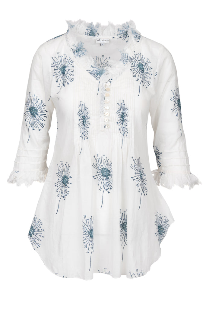 Sophie Cotton shirt - Navy Flower