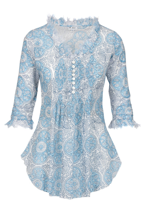 Sophie Cotton shirt - Baby Blue