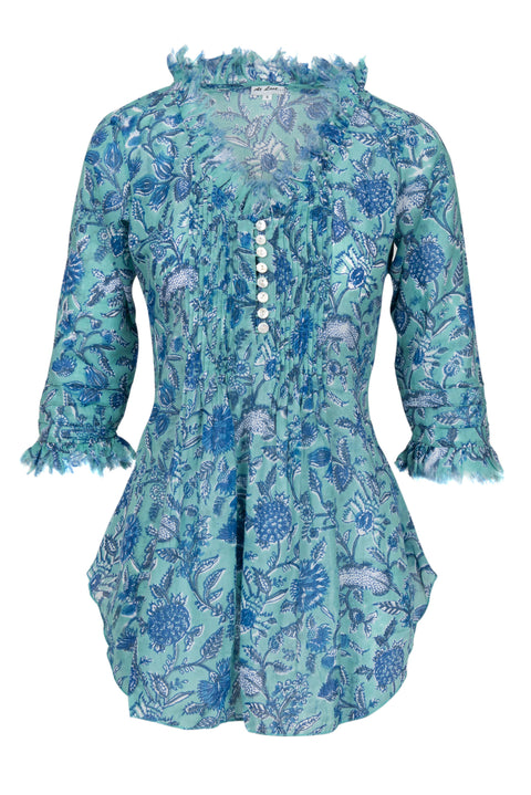 Sophie Cotton shirt - Aqua