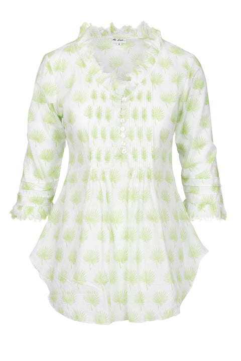 Sophie Cotton shirt - Lime Palm