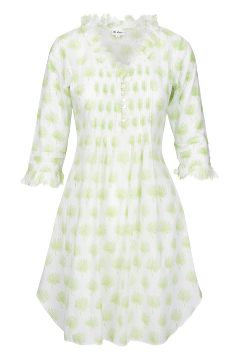 Annabel Cotton Tunic - Lime Palm