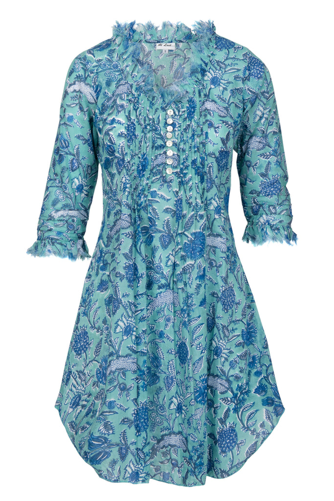 Annabel Cotton Tunic - Aqua