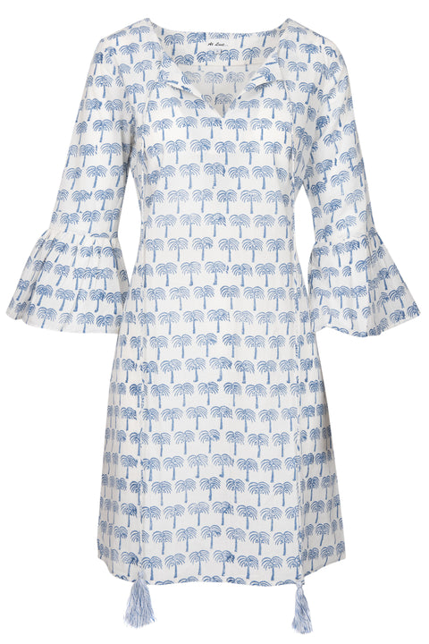 Belle Tassel Cotton dress - Navy Tree
