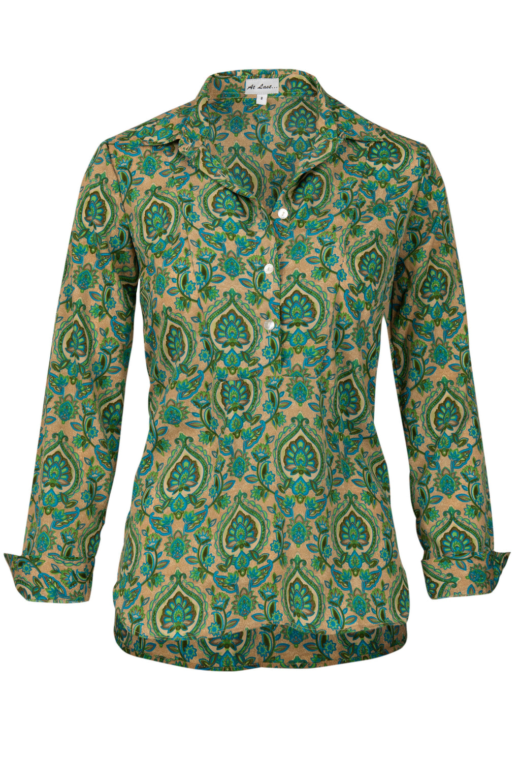 Soho Shirt with Back Detail - Green