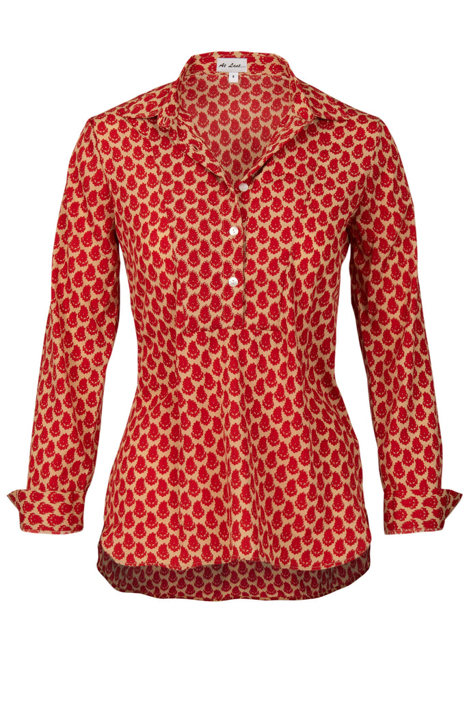 Soho Shirt with Back Detail - Red